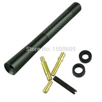 Wholesale Black Fiber Carbon Short quot Inch Antenna Radio Car Aerial Antenna For Cars