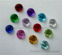 Wholesale CB013 mm Mixed color Round birthstone floating charms For Glass Memory Living Locket Pendant