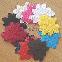 Wholesale Multicolor leaves flower applique felt embroidered patch cloth for kids custom iron on embroidery patch