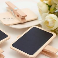Wholesale 1PCS New Wooden Blackboard On Place Holder For Wedding Party Decorations Chalkboards Message Board