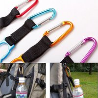 Wholesale Locking Carabiner Clip Water Bottle Buckle Holder Camping Snap hook clip on Clicp on