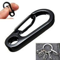 Wholesale 2015 Hot Sale Color Black And Silver Mini D engaging Edc Portable Tools Carabiner Hook Universal Engaging Sport