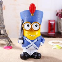 Wholesale Creative Minion Money Saving Box Despicable Me Piggy Eating money pot Stealing money tank Christmas Birthday Minions Decoration Gift