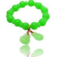 al por mayor jadeíta del jade brazalete de cuentas-Las nuevas pulseras de moda wristband colgantes pulsera de cuentas gotea encanto joya de piedra de jade de la vendimia JADEÍTA brazalete de la pulsera de la joyería del jade del grano