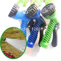 Wholesale Blue Green Garden Yard Water Hose Spray Nozzle Head Adjust Pattern Car Washing aiL