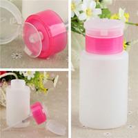 Wholesale New ML Pump Polish Dispenser Empty Bottle Nail Art Remover Bottle Women Beauty Accessories