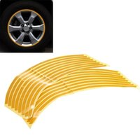 Wholesale Hot Sale x mm Car Motorcycle Bike Wheel Hub Rim Reflective Tape Stripe Decal Sticker Yellow