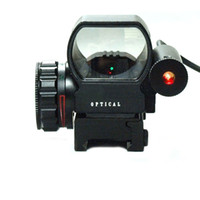 accessories red dot sights - New Dual Color Dot Sight Red And Green Dot Reflex Sight With Laser Gun Accessory Hunting Black W2278A