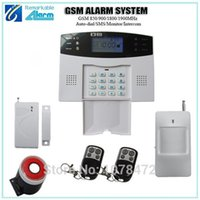 Wholesale Hot sale home security alarm system Auto dial SMS intercom GSM alarm system with GSM850 Mhz door magnet detector alarm system