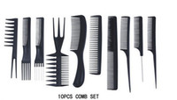 Wholesale China Post Air Mail Professional Salon Hair Comb Set set good for barber Hair Combs Hair Care Styling Tools