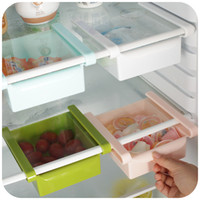 Wholesale New Thick refrigerator plastic drawers Fridge Storage box tray for fruit Food Candy Makeup Desktop Space Saver Organizer
