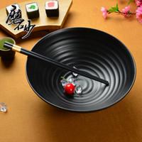 Cheap Wholesale-Free Shipping Quality a5 porcelain thread ramen bowl melamine instant noodles soup bowl