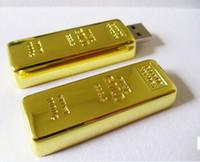 achat en gros de usb or 32gb éclair-2015 Gold Bar 16 Go 32 Go 64 Go USB Flash Drive en métal PenDrive thumb Drive Pendrive pour tablette pour caméra digimale pour smartphones