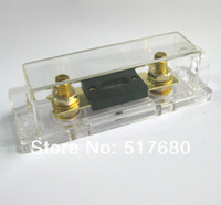 Wholesale Fuse holder fuse piece ANL Bloks Gold Plated Fuse holder For Auto Car boat