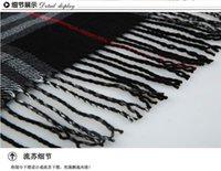 Wholesale Cape in the fall and winter of and checked more large pocket scarf chaddar tassel Europe and the United States
