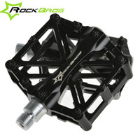 Wholesale ROCKBROS Bike Pedals Cycling Pedals MTB BMX DH Downhill Aluminum Pedals Core quot Bicycle Pedals Bike Accessories Colors New