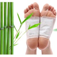 Wholesale 100pcs pairs home pedicure handy tool bamboo vinegar detox foot pads detox foot patch to improve sleep slimming beauty slimming foot paste