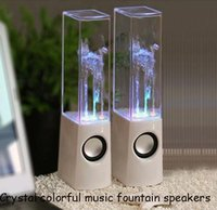 Cheap Crystal colorful music fountain speakers Best portable speaker