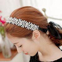 Wholesale FG1511 Sun Flower Fashion Pearl Rhinestone Head Chain Jewelry Headband Head Hair band