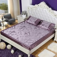 cane bamboo - Hot sale good quality double cane seats jacquard leisure breathable cool mat high grade mat ice silk bedspread three piece suit
