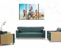 Wholesale HD Canvas Print home decor wall art painting Picture NO FRAME Horse pc