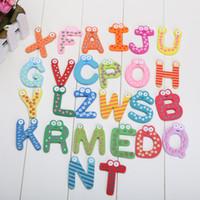 Unisex magnetic alphabet - wood alphabet fridge magnets novelty magnetic word magnet kids for refrigerator