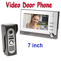 Wholesale 7 inch LCD Home Security Video Door Phone Doorbell Intercom Kit System EMS freeshipping Dropshipping