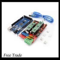 Cheap Mega 2560 R3 + 1pcs RAMPS 1.4 Controller + 5pcs A4988 Stepper Driver Module RAMPS 1.4 KIT for 3D Printer kit Reprap MendelPrusa
