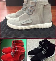Wholesale New High Men and Women Gray Black Red Brown Suede Fashion Yeezy Sneaker Shoes