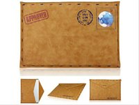 apple macbook air pouch - Creative Envelope PU Leather Case Bag Sleeve Protector Pouch Bags for Macbook Air pro inch Laptop Notebook