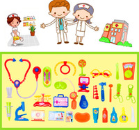 Wholesale Play Doctor Cartoon Toys Educational Toys Doctor Medical Kit Nurse Role Play Pretend Education Set Gift Toy for Child Kid