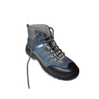 steel toe cap - 8002 Suede leather safety boots with steel toe cap gray suede leather upper
