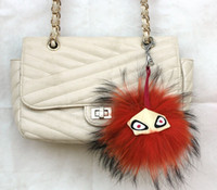 bal chain - 18 OFF big key ring bag charm pendant real mink fur pompom F monster fur ball Key Chains women bag hanging drop fur bal CF