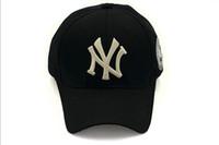 Wholesale Hot Baseball Cap NY Embroidery Letter Sun Hats Adjustable Snapback Hip Hop Dance Hat Summer Outdoor Men Women White Black Navy Blue Free DHL