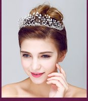 antique platinum jewelry - Shoppingabc Handmade Women s Crystal Diamond Bride Bridal Wedding Hair Head Band Pearl Rhinestone Jewelry Headdress Tiara Flower Crown