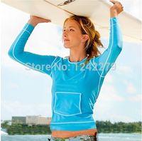 animal wetsuits - Hot Sale Rashguard Women upf Rash Guard Swim Shirts Lycra Swimsuit Long Sleeve Windsurfing Wetsuits