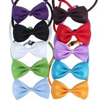 Wholesale 20pc Hot sale solid color butterfly pet cat puppy dog bow tie Grooming Supplies PE06