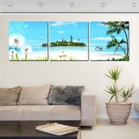 aviation pictures - Hot free sky three Pure hand painted wall art home decor painting worth modern aviation picture statue