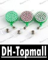 badge reels - Hot Selling Crystal Badge Reels Rhinestone Retractable Yoyo ID Card Holder Bling ID Name Badge Holder Reel