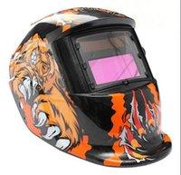 Wholesale Welding Helmet Mask Solar Auto Darkening Welding Helmet Arc Tig Mig Mask Weld Welder Lens Grinding Mask Black Bear Claw