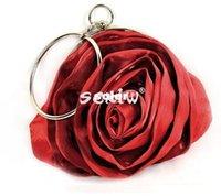 Wholesale Rose Soft Evening Bag Purse Handbag Wedding Clutch Metal Handle Colors new hot sell women wedding and party handbags