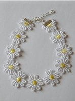 Wholesale Daisy Chain Choker Necklace Summer Festival s s White Yellow