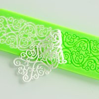 Wholesale seconds kil silicone mold lace cake molds fondant tools forma de bolo cake decorating tools silicone chocolate mold bakeware