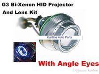 Cheap Wholesale price ! Very Cheap shipping !G3 Bi-Xenon HID Projector Lens Kit with Angle Eyes+12months warranty KF11013