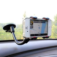 Cheap Double clip car mobile phone holder mount navigation glass suction cup for for apple for for SAMSUNG for HUAWEI general