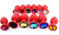 Wholesale Chastity Devices New Red Color Luxury Silicon Anal Sex Toys Butt Plug Anal Toys Sex Toys for Women Men Size to choose SM007