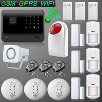 Wholesale G90B Internet WiFi GSM SMS GPRS Home Security Alarm System Door Close Reminder