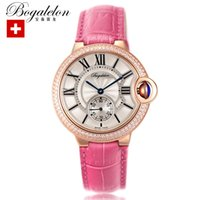 Wholesale DHL ship high quality women quartz watch diamond rose gold waterproof leather strap dress watches female luxury design reloj de las mujeres
