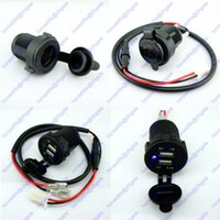 Wholesale Cigarette Lighter Socket Power Outlet Dual USB Phone Charger Car RV Motorcycle