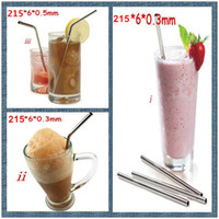 Wholesale Stainless Steel Straw Eco friendly drinking straws practical beer tool bend drinking straw for party gift Bar kitchen barware